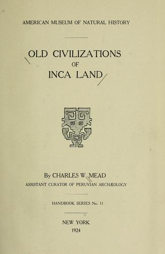 Download Old civilizations of Inca land
