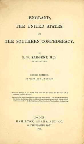 Download England, the United States, and the Southern Confederacy