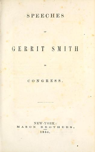 Download Speeches of Gerrit Smith in Congress
