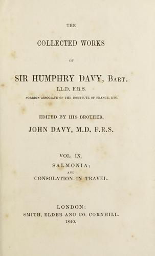 Download The collected works of Sir Humphry Davy …
