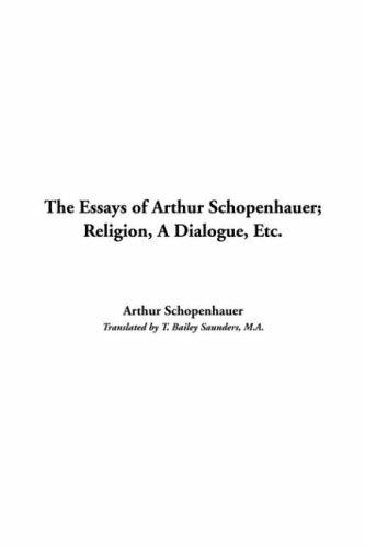 Download The Essays Of Arthur Schopenhauer