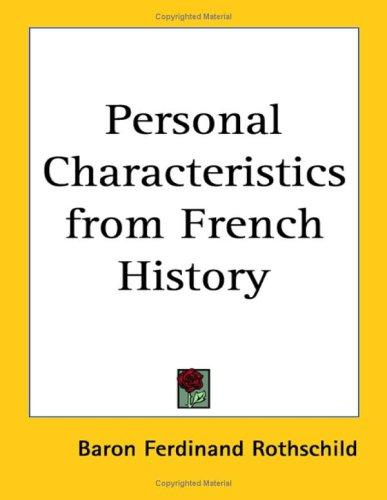 Download Personal Characteristics From French History