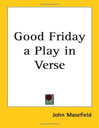 Download Good Friday A Play In Verse