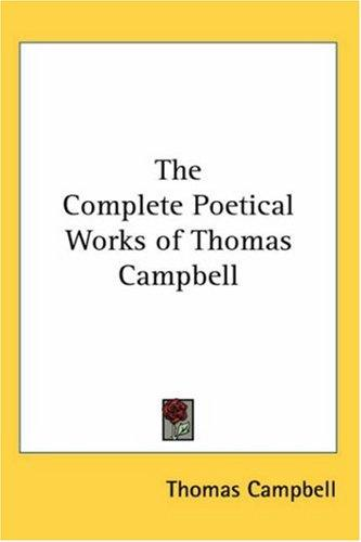 Download The Complete Poetical Works of Thomas Campbell