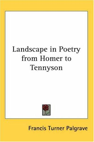 Download Landscape in Poetry from Homer to Tennyson