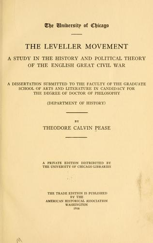 Download The Leveller movement