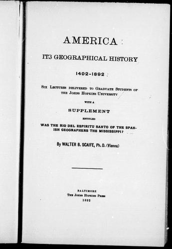 Download America, its geographical history, 1492-1892