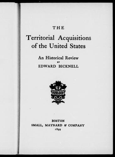 The territorial acquisitions of the United States