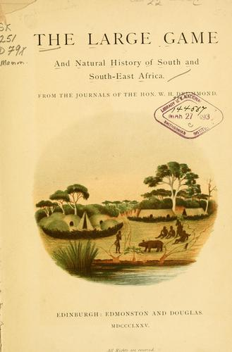 Download The large game and natural history of South and South-East Africa.