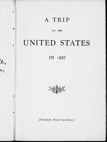 A trip to the United States in 1887