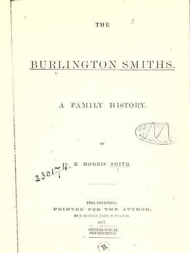 The Burlington Smiths by Richard Morris Smith