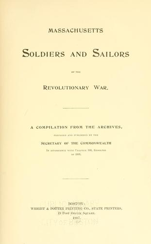 Download Massachusetts soldiers and sailors of the revolutionary war