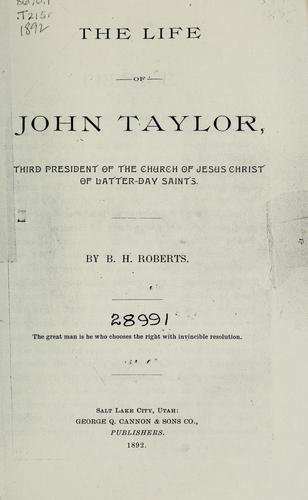 Download The life of John Taylor