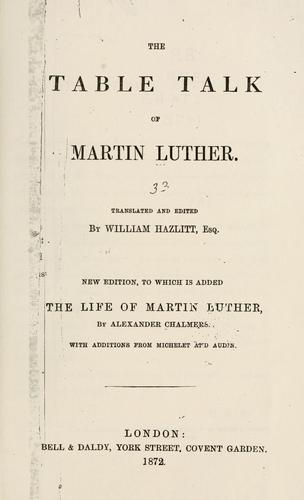 Download The table talk of Martin Luther