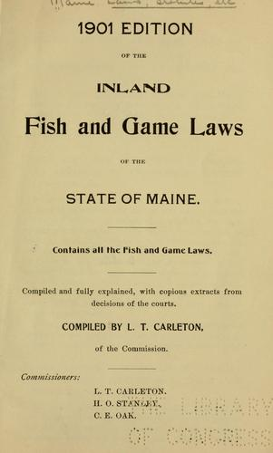 Download Inland fish and game laws of the state of Maine.