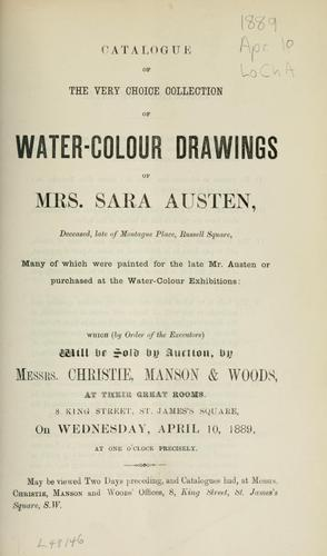 Water-colour drawings.