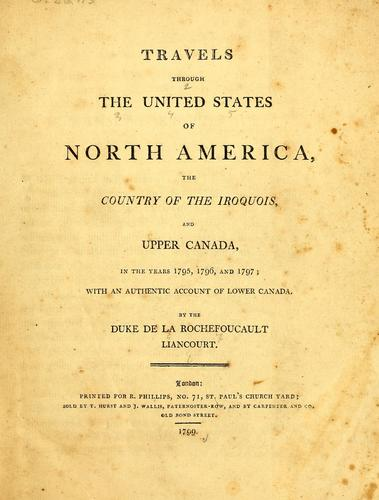 Download Travels through the United States of North America