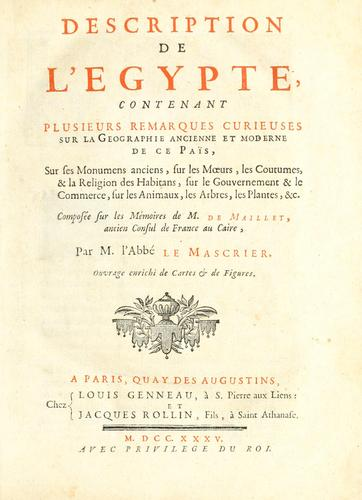 Download Description de l'Egypte