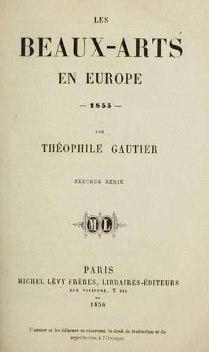 Download Les beaux-arts en Europe, 1855