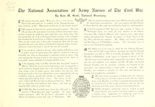Download In honor of the National Association of Civil War Army Nurses.