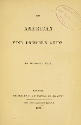 Download The American vine dresser's guide.