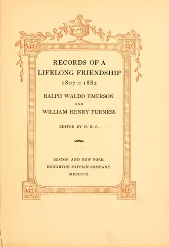 Download Records of a lifelong friendship, 1807-1882