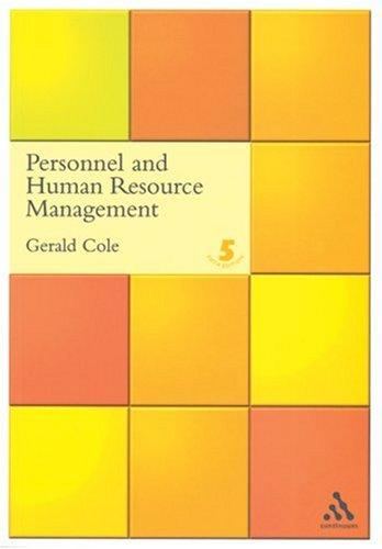 Download Personnel and Human Resource Management