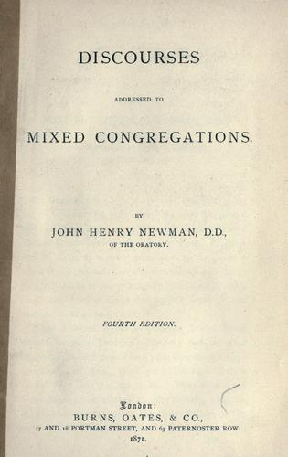 Download Discourses addressed to mixed congregations