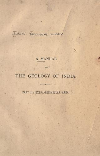 Download A manual of the geology of India …