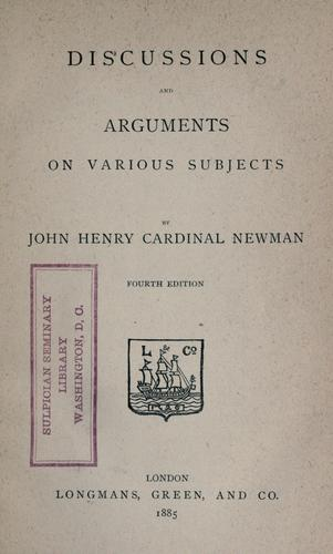 Download Discussions and arguments on various subjects