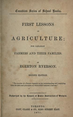 Download First lessons on agriculture