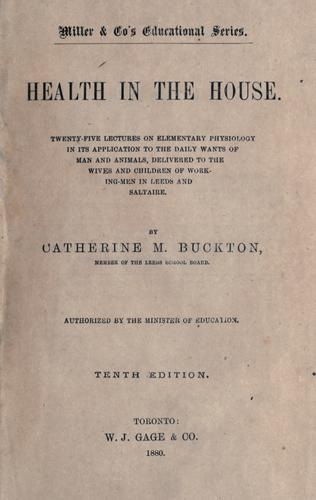 Health in the house