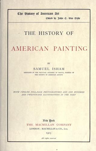 The history of American painting.