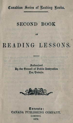 Second book of reading lessons