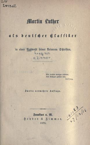 Download Martin Luther als deutscher Classiker