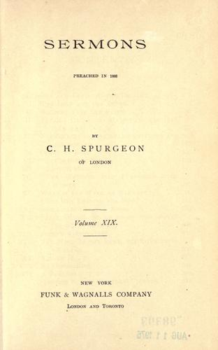 Download Sermons of Rev. C.H. Spurgeon of London.