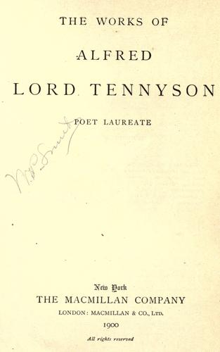 Download The works of Alfred, Lord Tennyson …