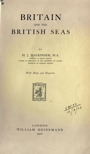 Download Britain and the British seas.