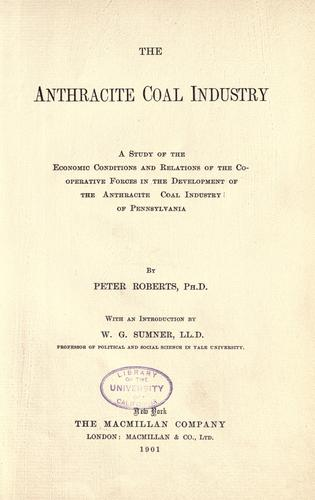 Download The anthracite coal industry