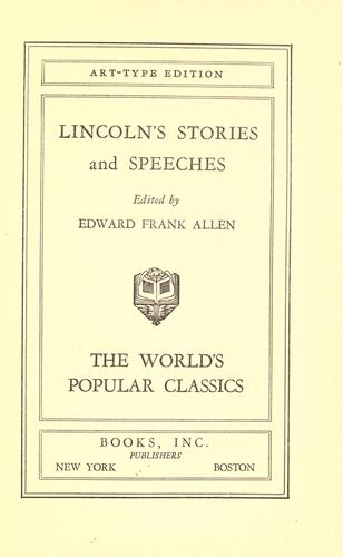 Download Lincoln's stories and speeches.