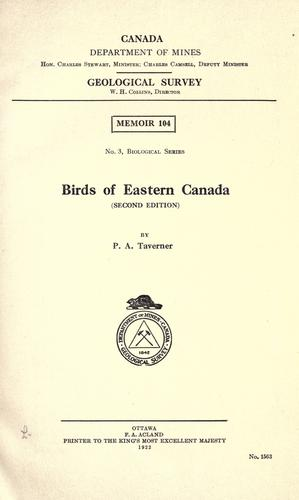 Download Birds of eastern Canada
