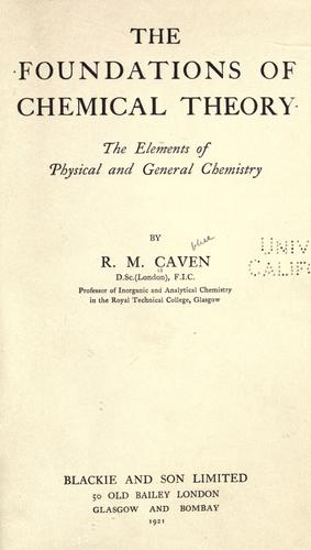 Download The foundations of chemical theory