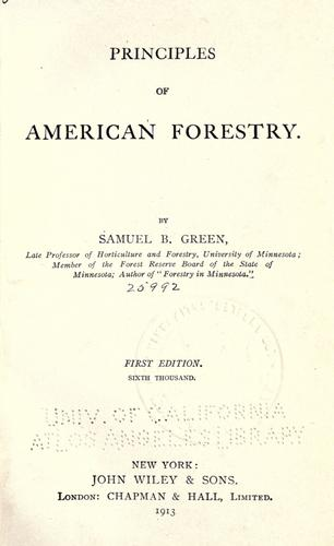 Download Principles of American forestry.