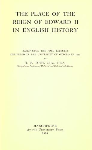 The place of the reign of Edward II in English history