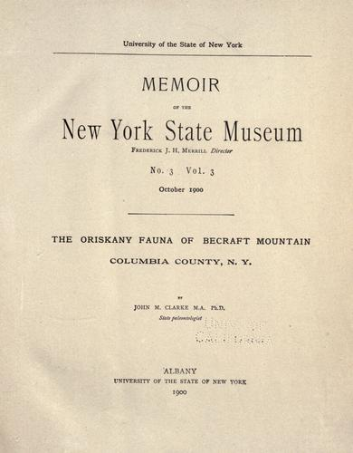 Download The Oriskany fauna of Becraft Mountain, Columbia County, N. Y.