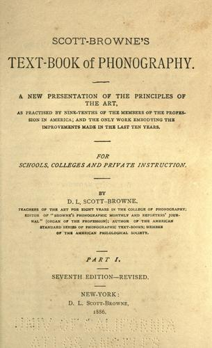 Download Scott-Browne's text-book of phonography …