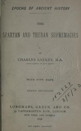 Download The Spartan and Theban Supremacies.