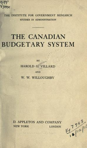 The Canadian budgetary system.