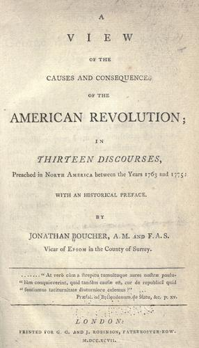 Download A view of the causes and consequences of the American revolution