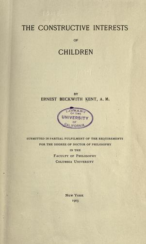 Download The constructive interests of children …